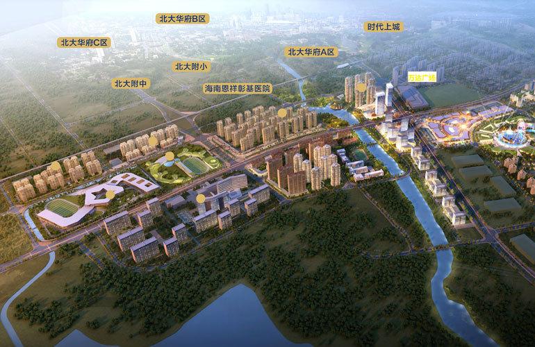 海口恩祥新城北大华府在售建筑面积117-156㎡的3居-4居,均价16000元/㎡