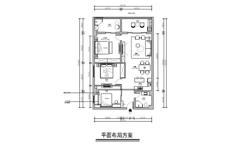 冬都大厦 建筑面积124㎡  三房样板间图片
