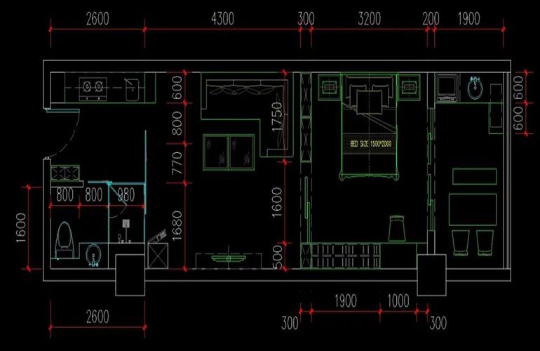 冬都大厦 建筑面积62㎡  一房效果图