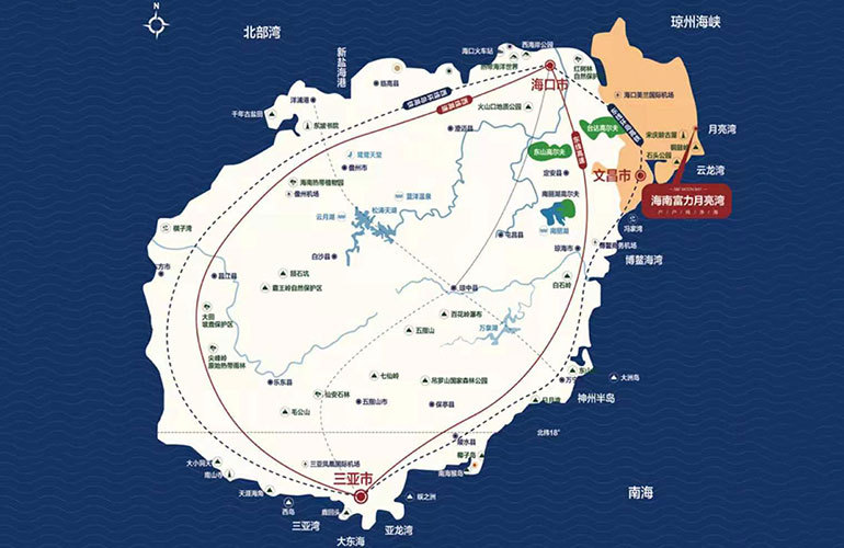 富力月亮湾海尚公寓区位图