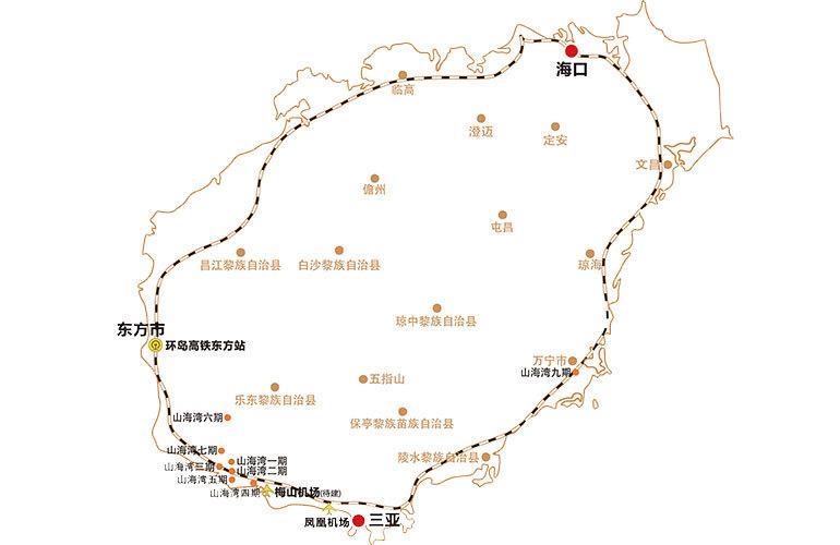 山海湾五期三区区位图