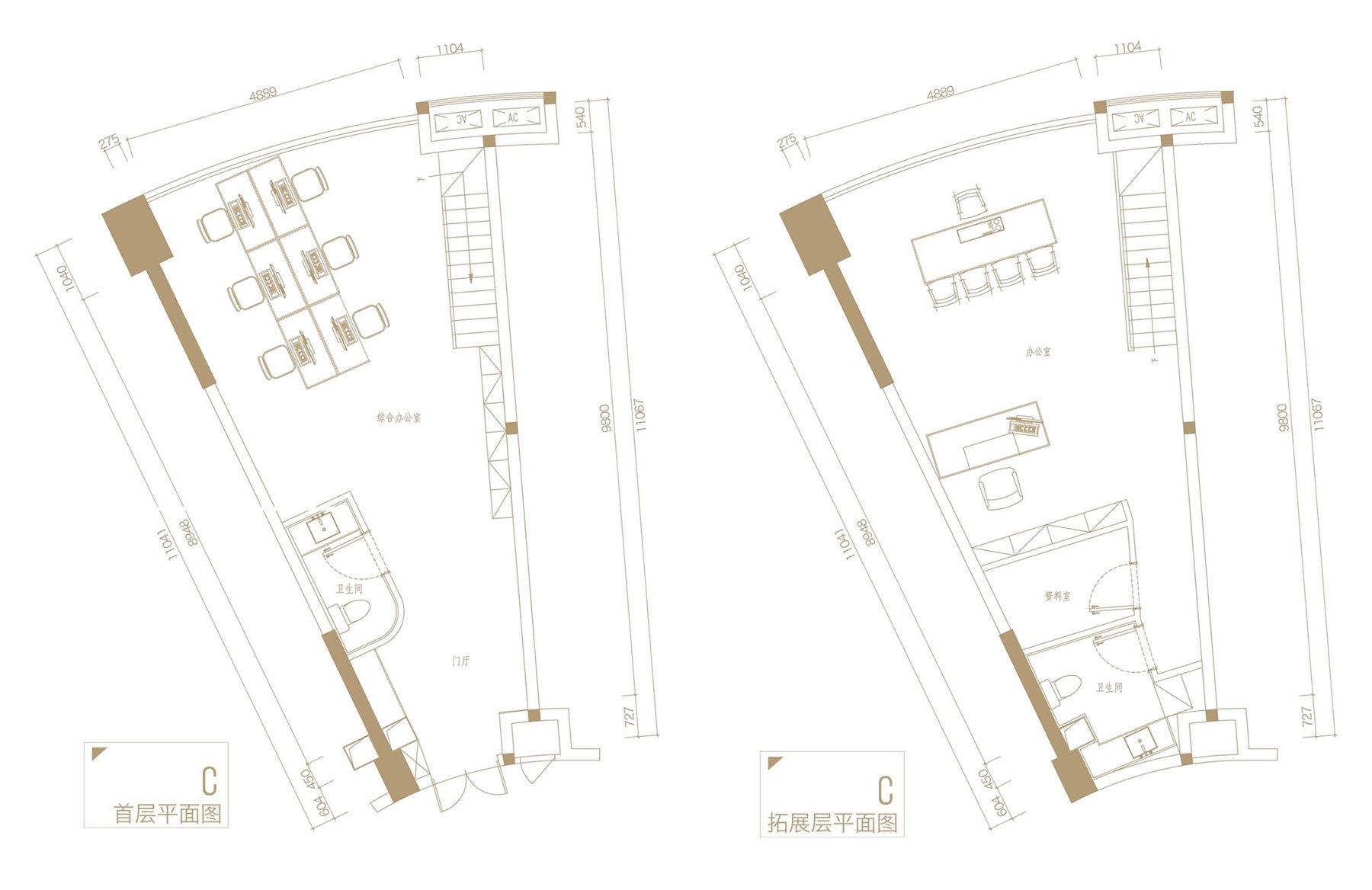 C户型 建筑面积约70㎡
