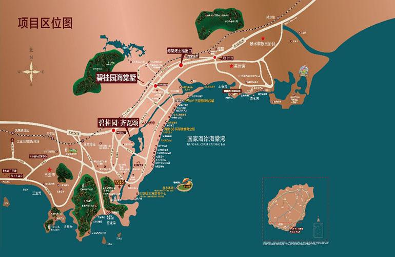 碧桂园海棠墅区位图