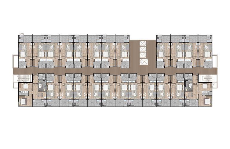 九所泊云 公寓楼层户型平面图