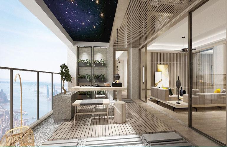 海蓝凤凰海岸 阳台