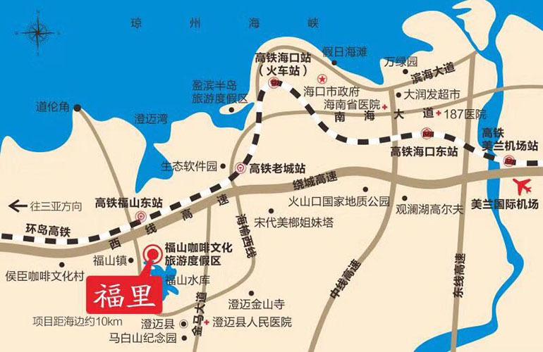 九曲花街商业广场区位图