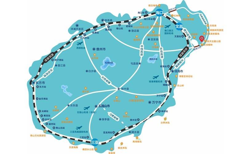 椰林小筑 区位图
