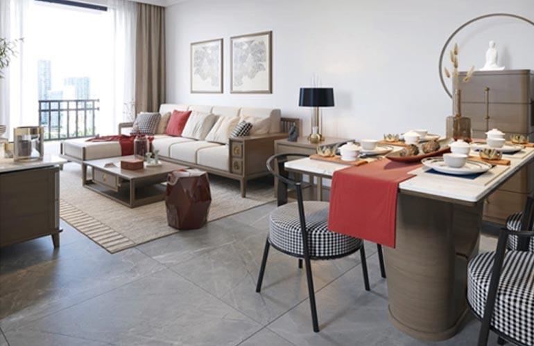 椰林小筑 D户型样板间-客厅
