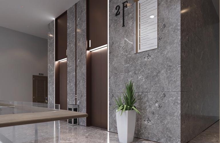椰林小筑 电梯间