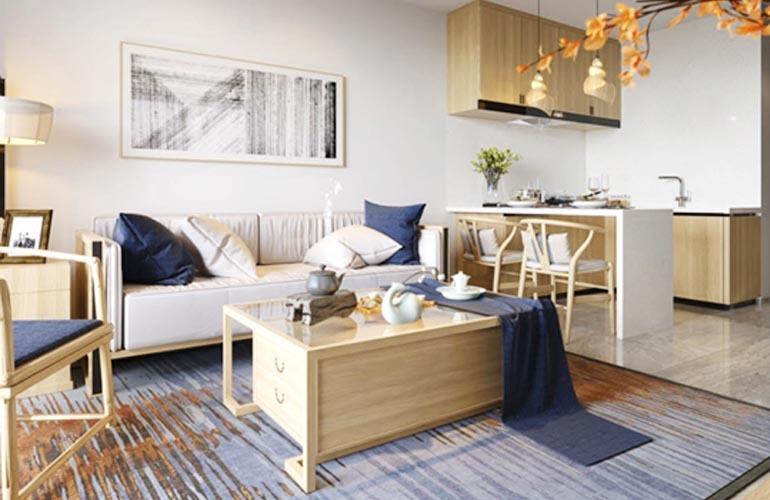 椰林小筑B户型样板间-客厅