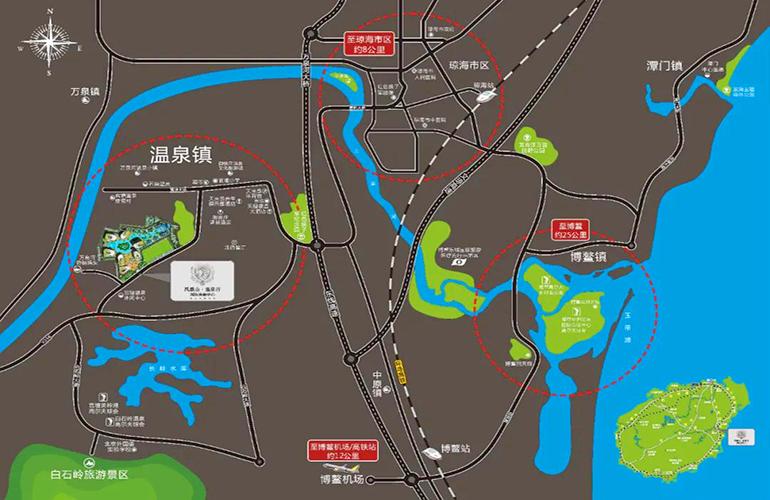 凤凰山温泉谷 区位图