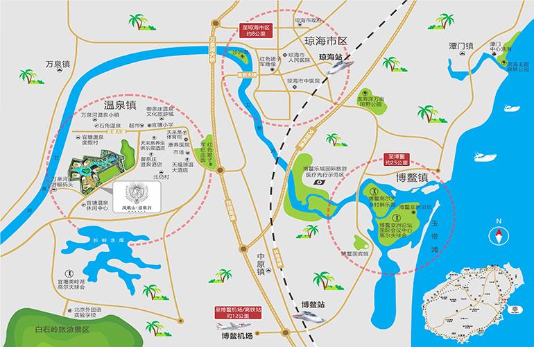 凤凰山温泉谷区位图