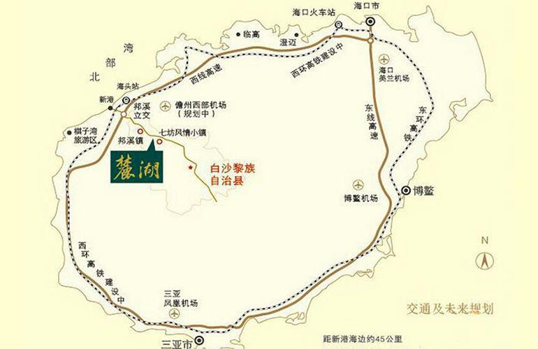 鹭湖国际养生度假区 区位图