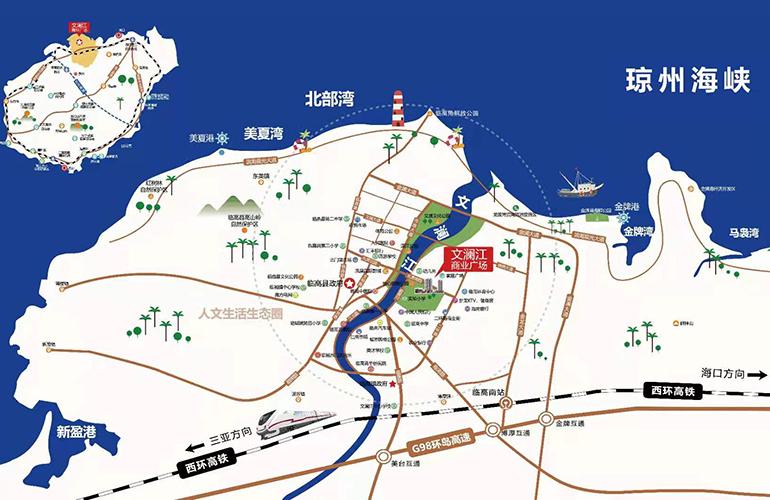 文澜江商业广场区位图