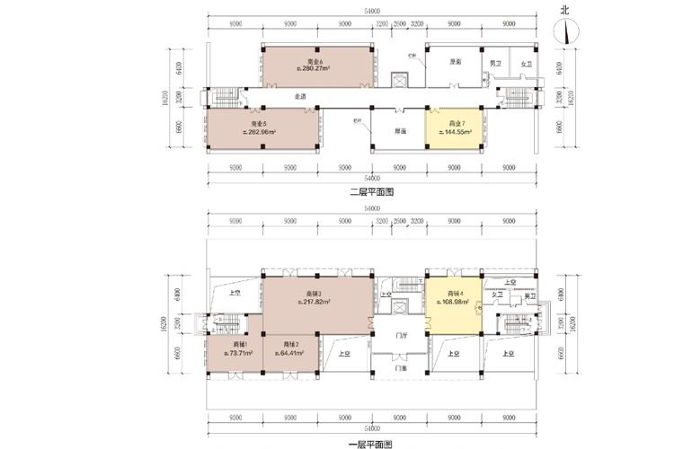 艺境 商业 E3户型 建筑面积1668.83㎡