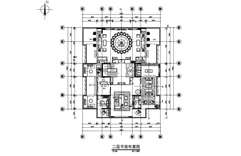 艺境 B户型 二层平面布置图