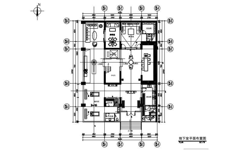 艺境 C户型 地下室平面布置图
