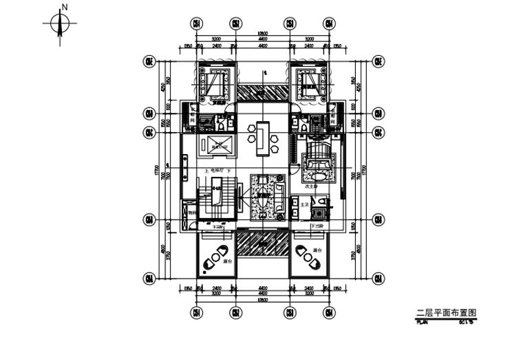 艺境 C户型 二层平面布置图