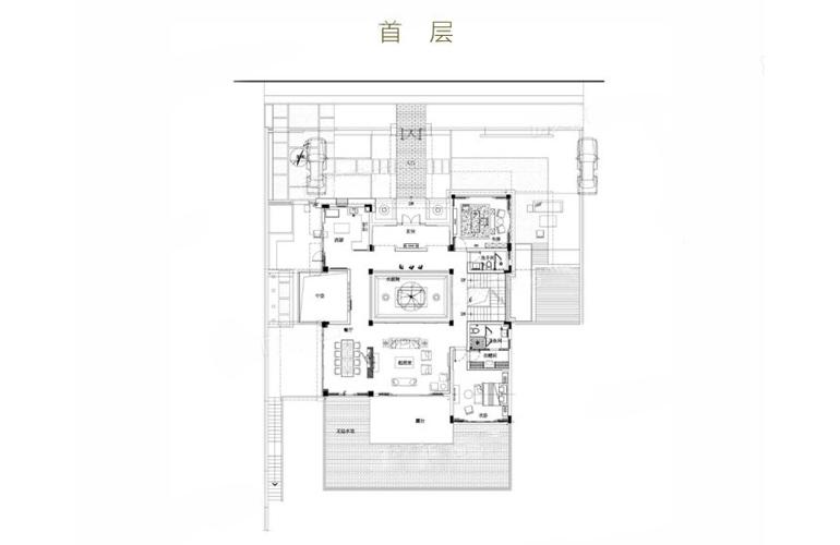 亚龙湾水岸君悦 VC户型 7室2厅6卫 建筑面积549.2㎡ 首层平面图