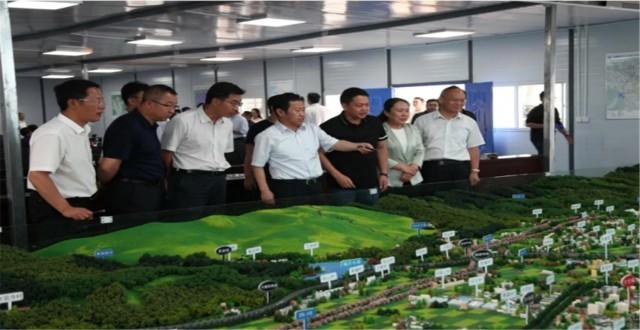 州委书记陈坚一行到大理新区建设指挥部调研