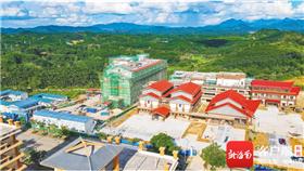 琼中新中医院项目一期主体完工