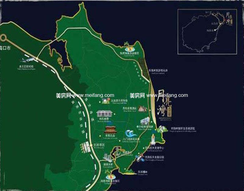 合景月亮湾 交通图