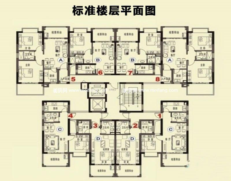 珍珠湾风情小镇 标准楼层平面图