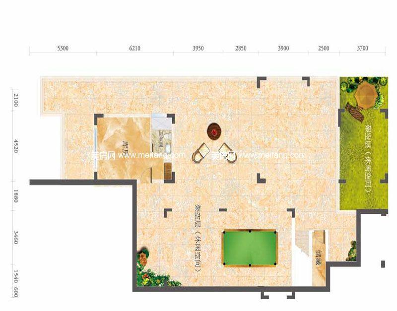 合景月亮湾 F型别墅 3室3厅4卫1厨 建面187㎡