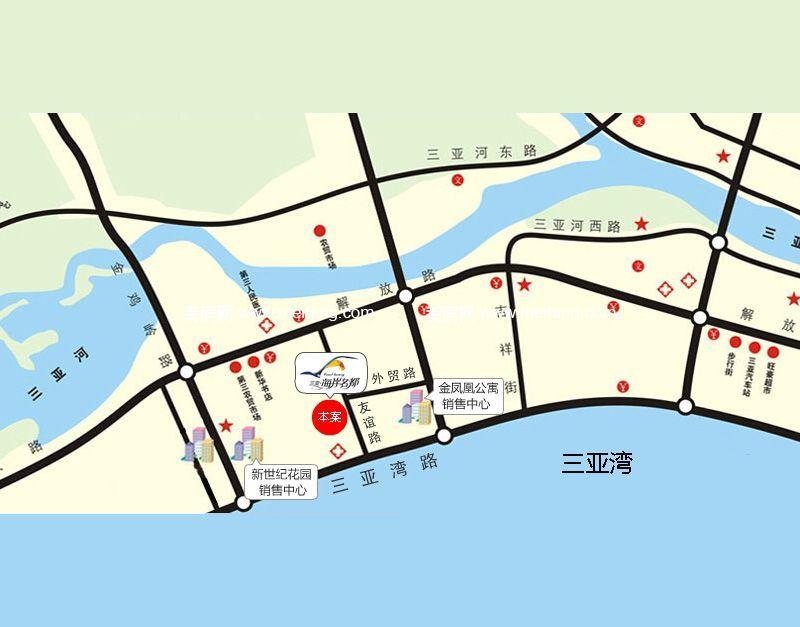 海岸名都 区位图