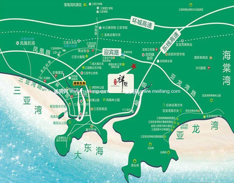 南枫禅墅 区位图