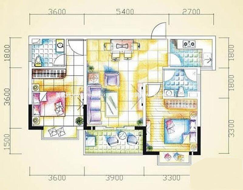 汇丰国际度假公寓 2室2厅2卫81㎡