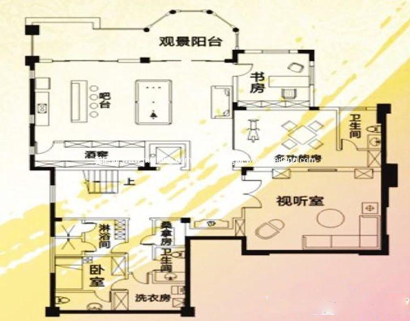 夏威夷海岸 别墅C户型6室4厅4卫1厨1668.19㎡