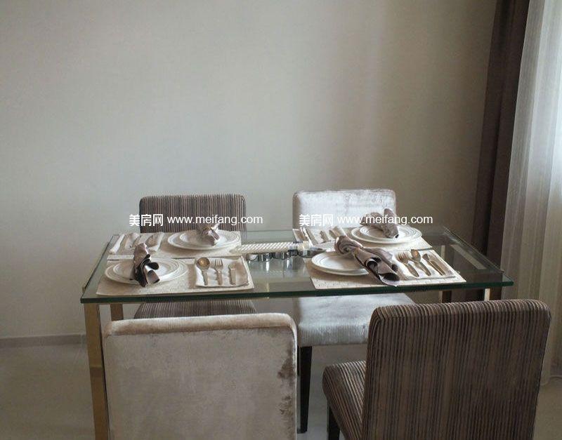万宁国瑞城 9号楼C户型2房1厅1厨1卫72㎡样板间:餐厅