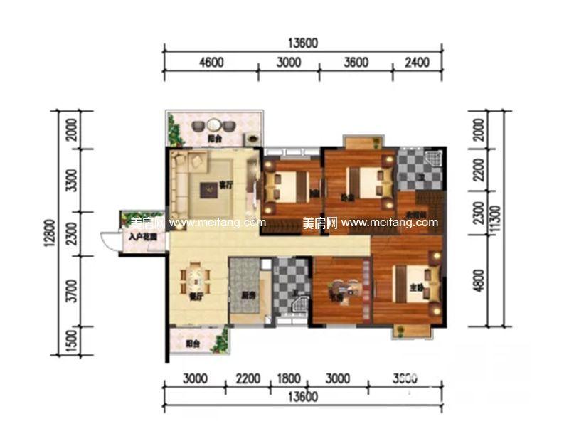 和沐天成 4室2厅2卫建面182.5㎡