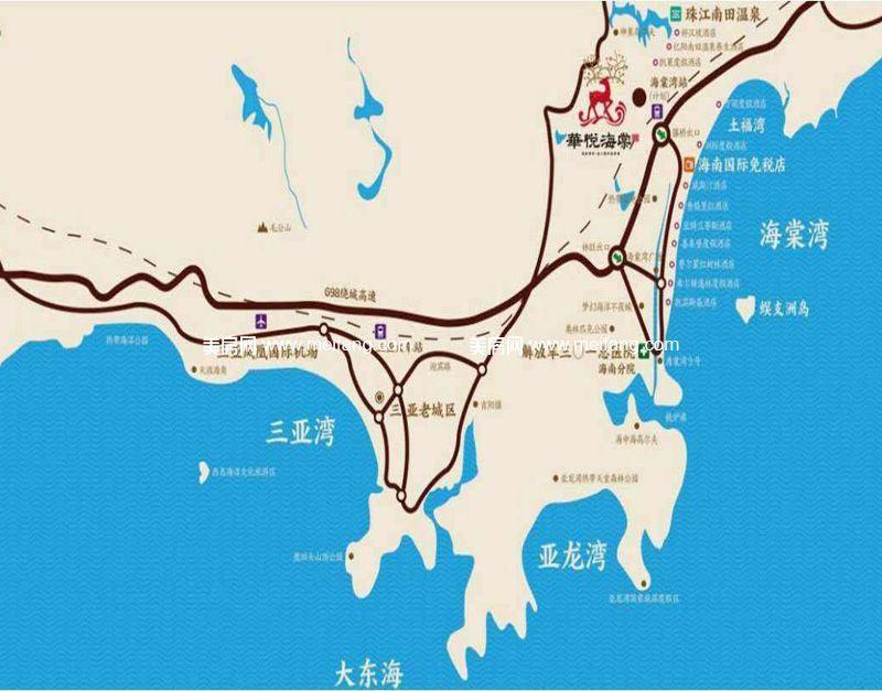 华悦海棠 区位交通图