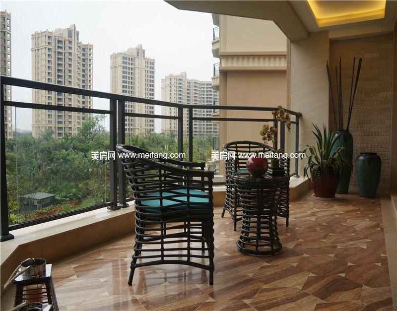 观澜湖 中央公园149㎡样板间:阳台