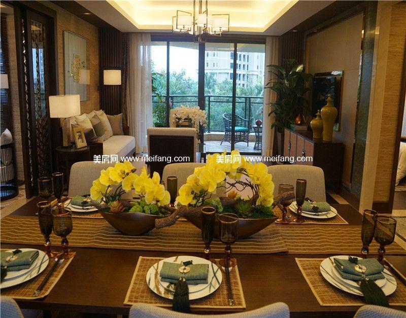 观澜湖 中央公园区149㎡样板间:餐桌