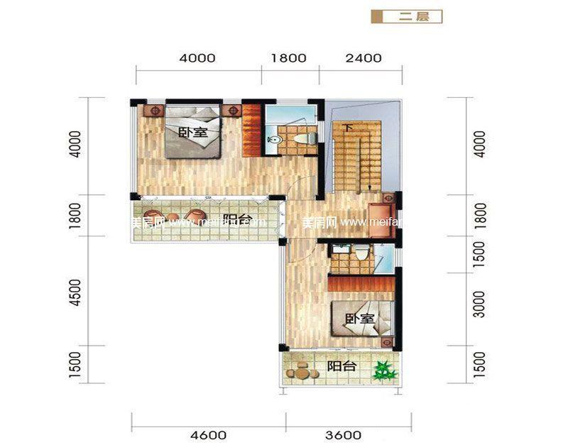 龙栖湾波波利海岸 别墅户型1二层 5室3厅5卫1厨 建面219㎡