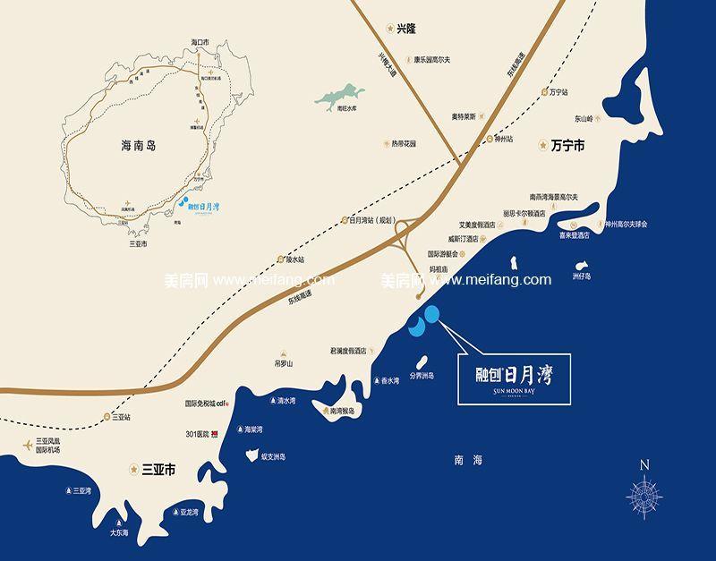 融创日月湾 位置图