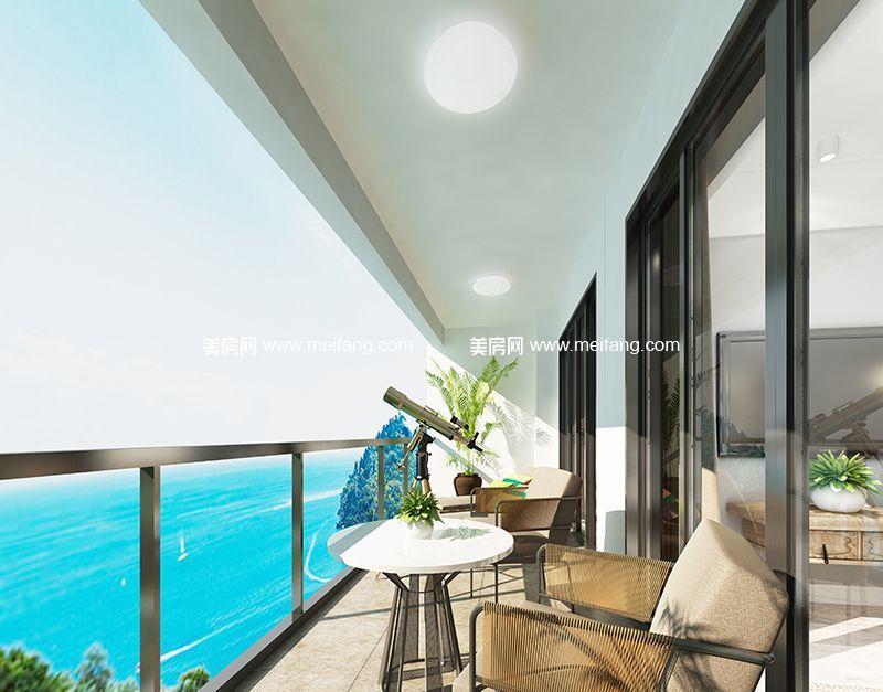 融创日月湾 65㎡样板间:阳台