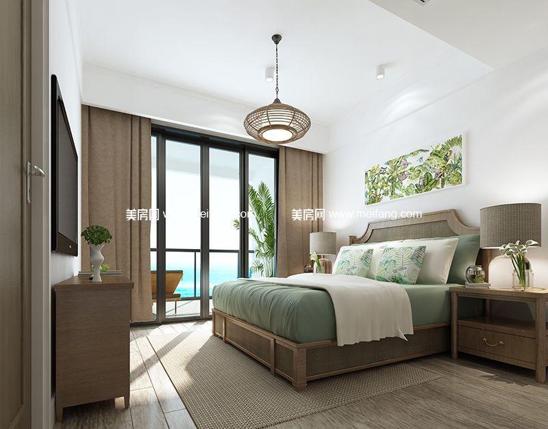 融创日月湾 95㎡样板间:卧室