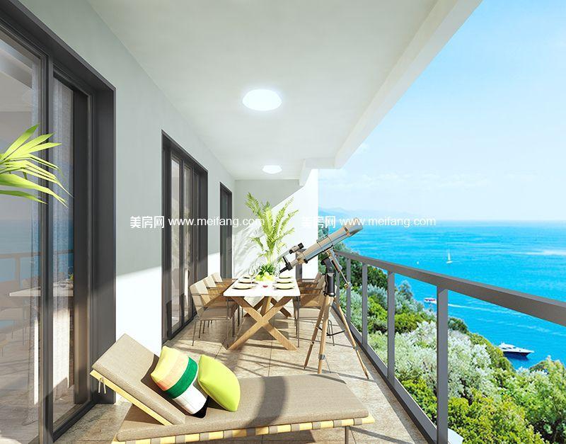 融创日月湾 95㎡样板间:阳台