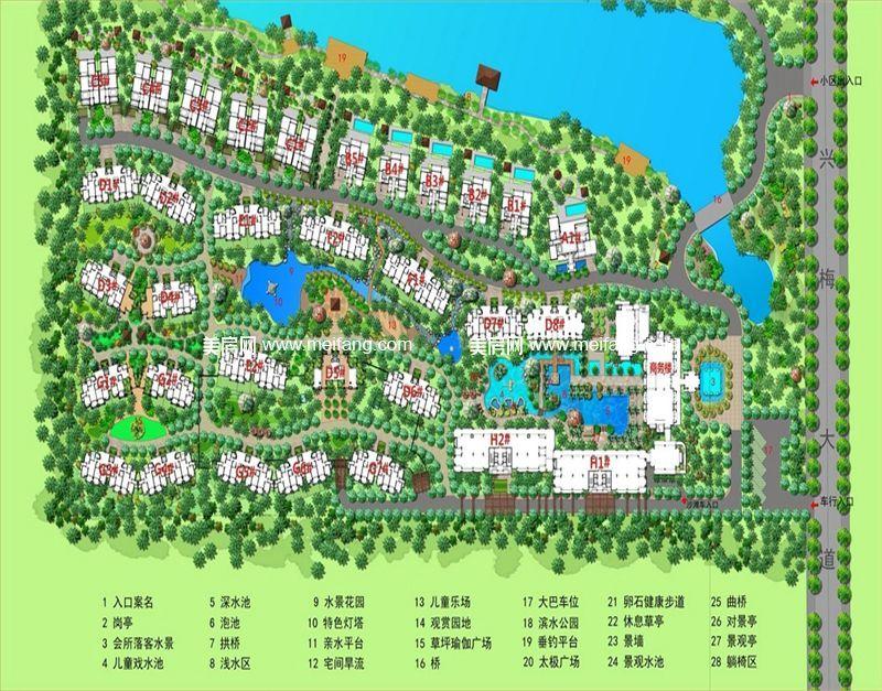 龙憩园中园 总规划图