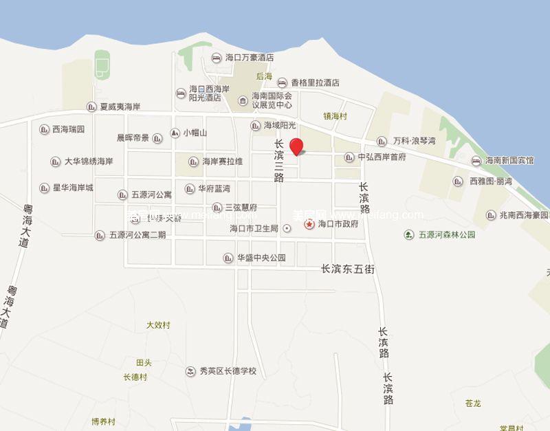 滨海新天地 区位图
