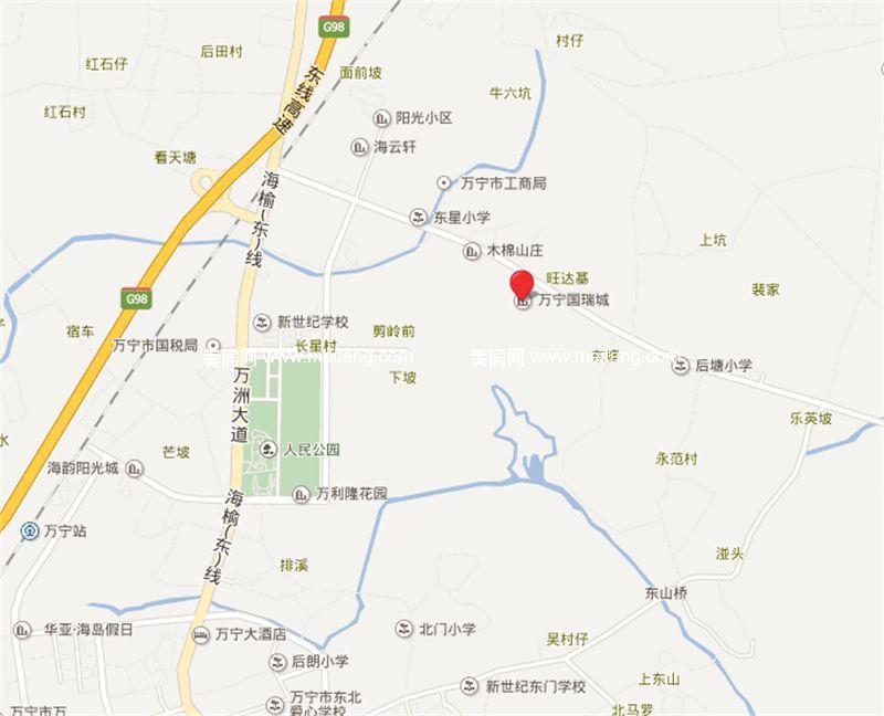 万宁国瑞城 区位图