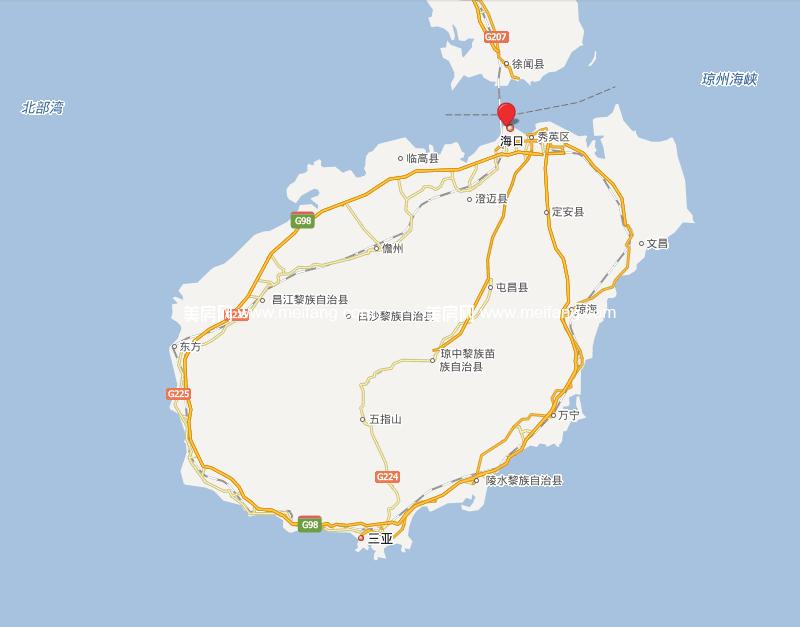 夏威夷海岸 位置图