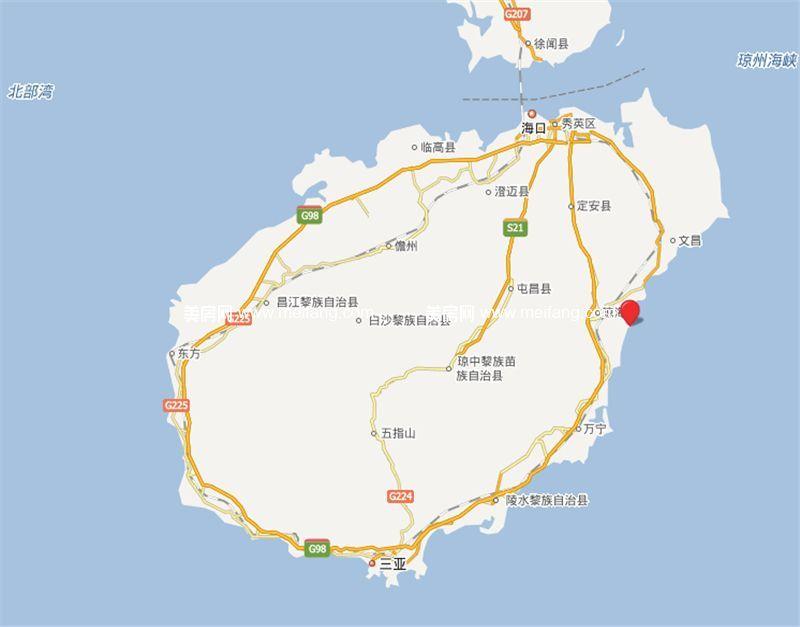 博鳌印象 区位图