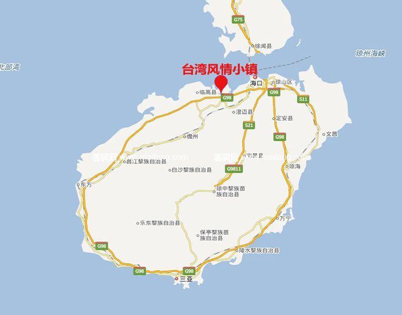 台湾风情小镇 交通图