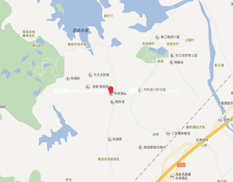 华悦海棠 区位图