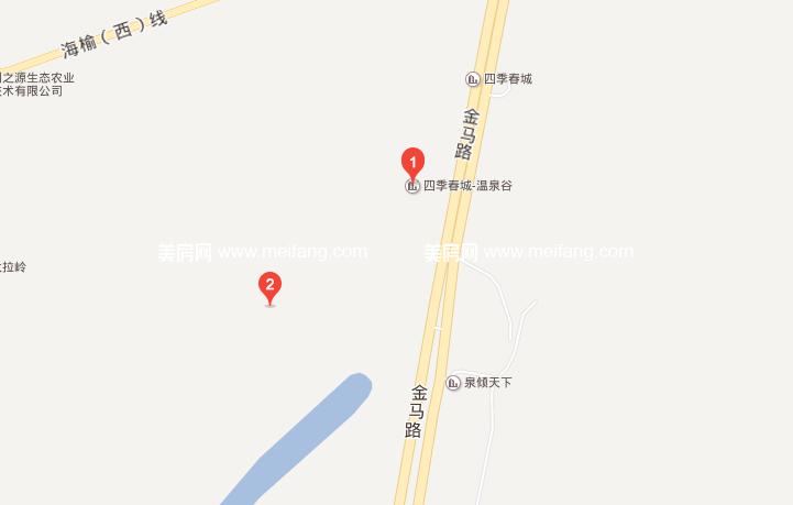 四季春城温泉谷 区位图